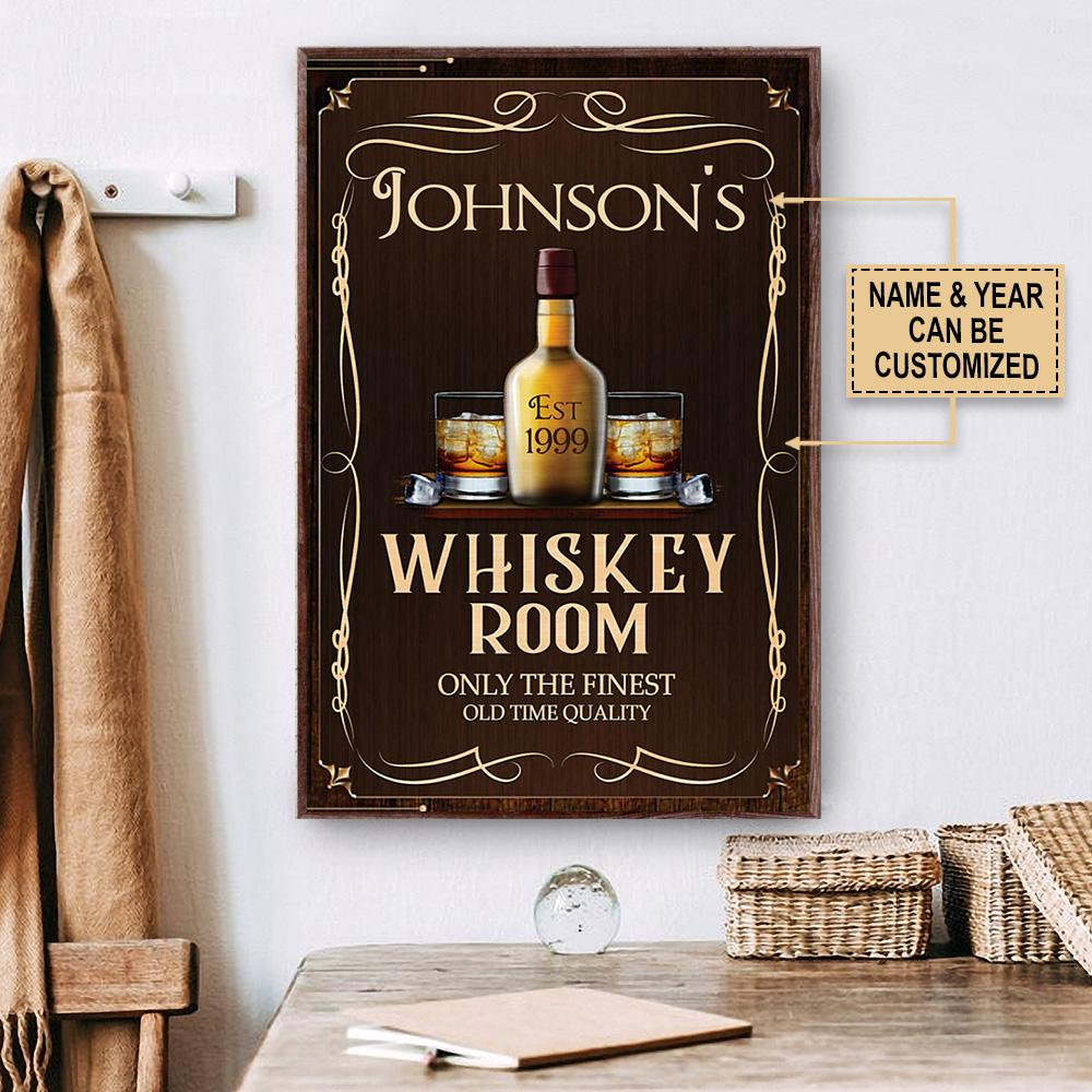 custom name whiskey room only the finest old time quality vintage poster 3