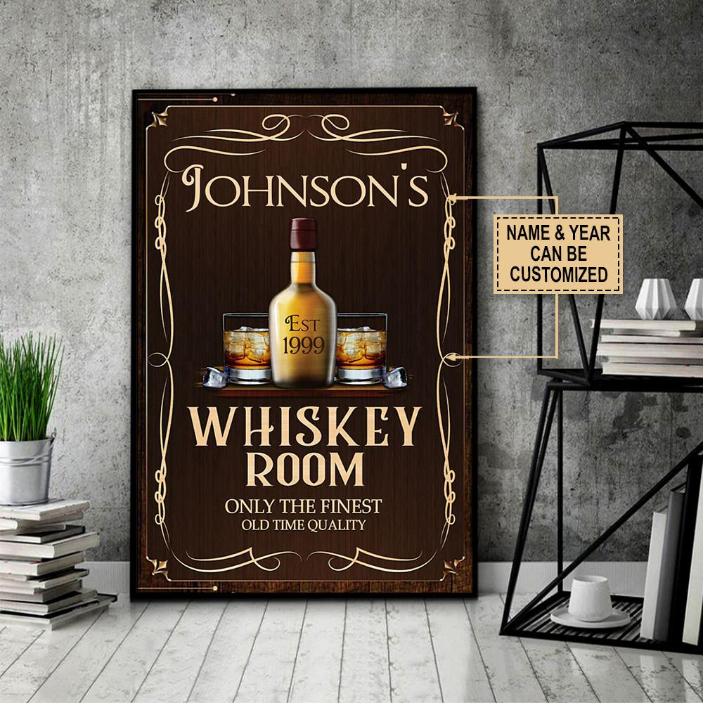 custom name whiskey room only the finest old time quality vintage poster 5