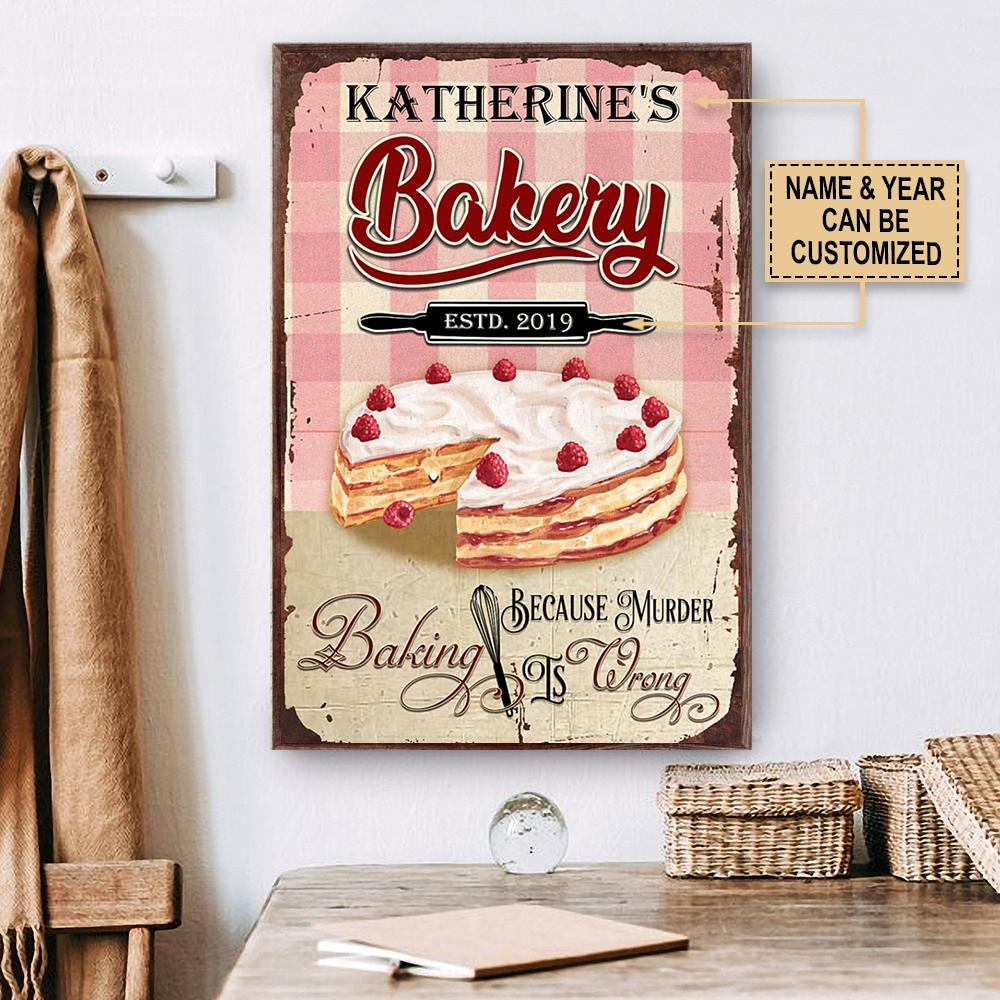 custom your name baking because murder is wrong poster 2