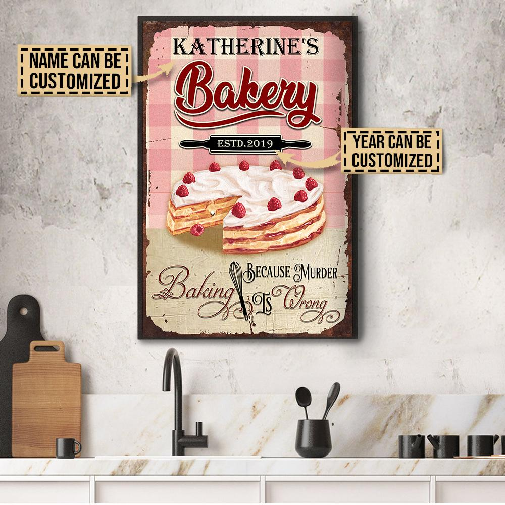 custom your name baking because murder is wrong poster 6