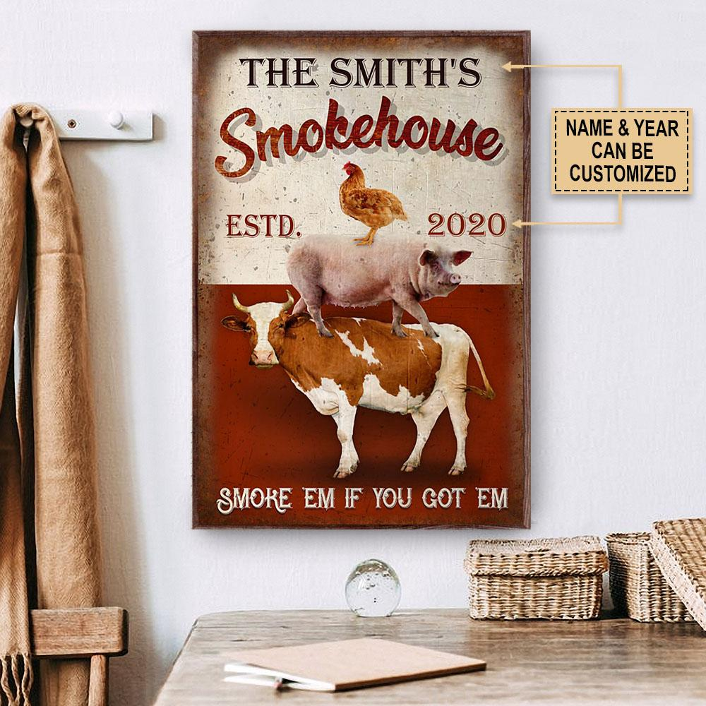 custom your name bbq smoke house smoke em if you got em poster 2
