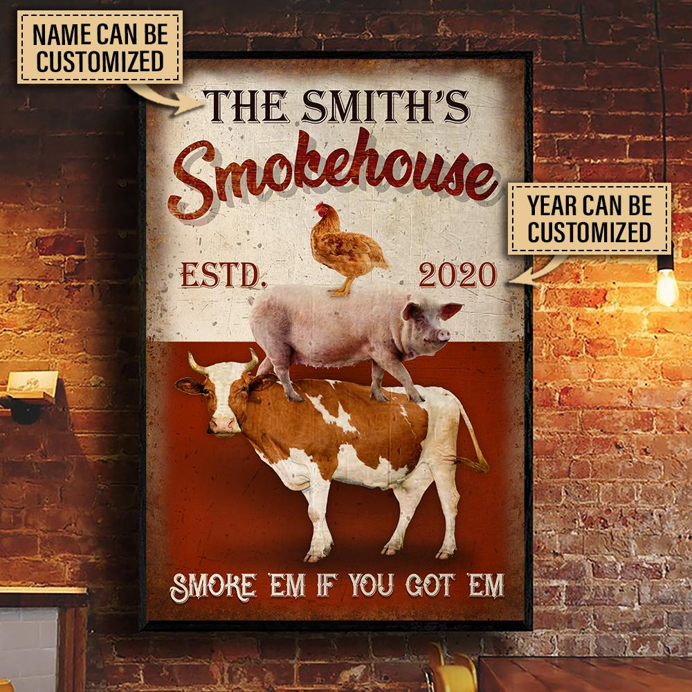 custom your name bbq smoke house smoke em if you got em poster 3