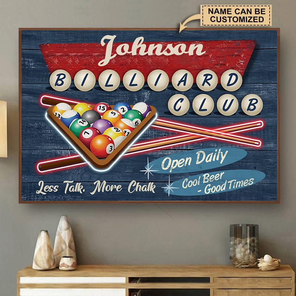 custom your name billiard club cool beer good times poster 2