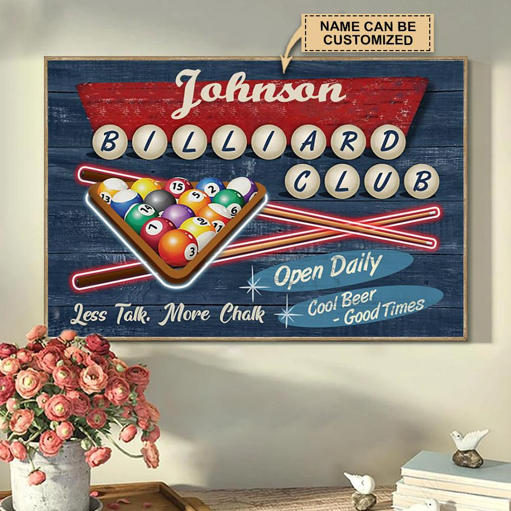 custom your name billiard club cool beer good times poster 5