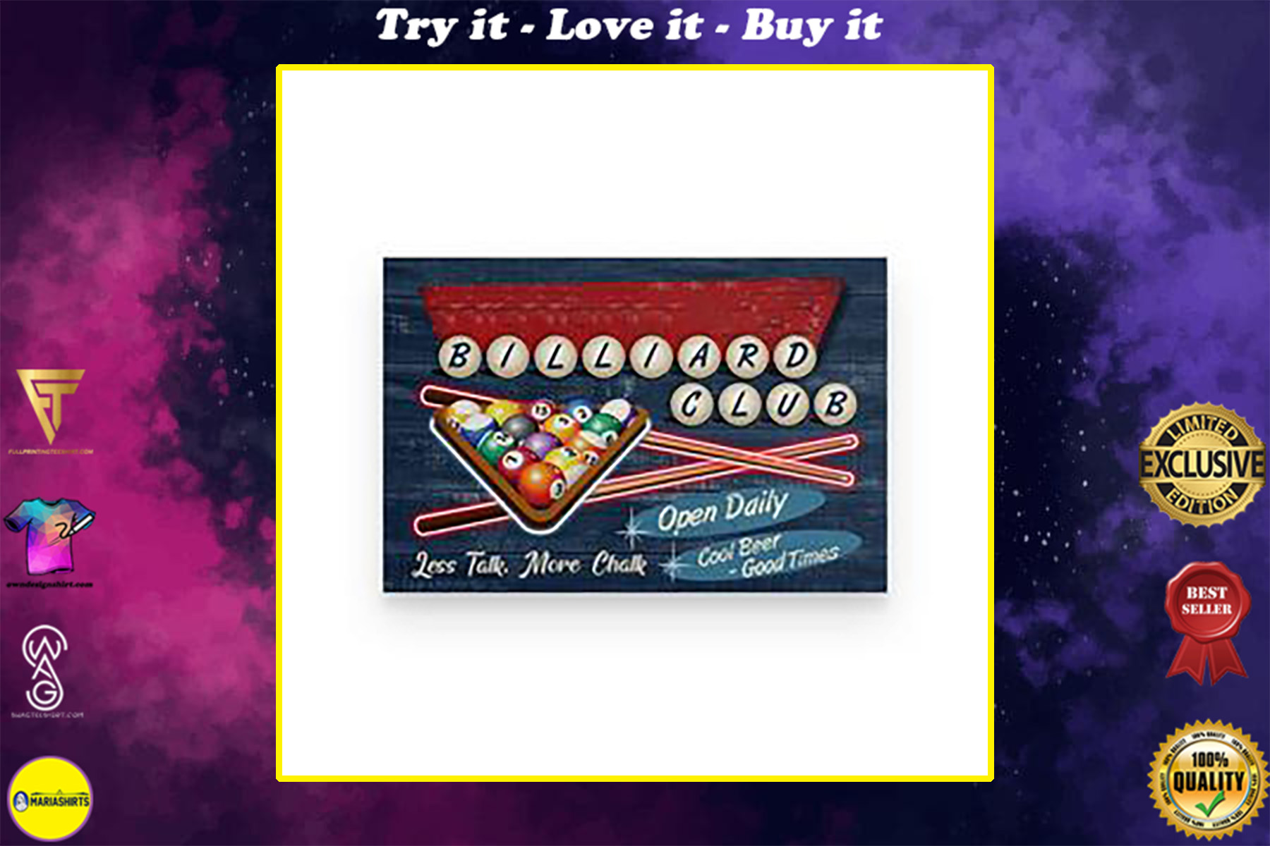 custom your name billiard club cool beer good times poster