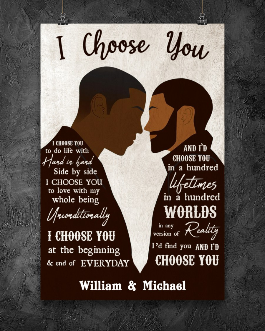 custom your name black gay couple id find you and i choose you poster 2