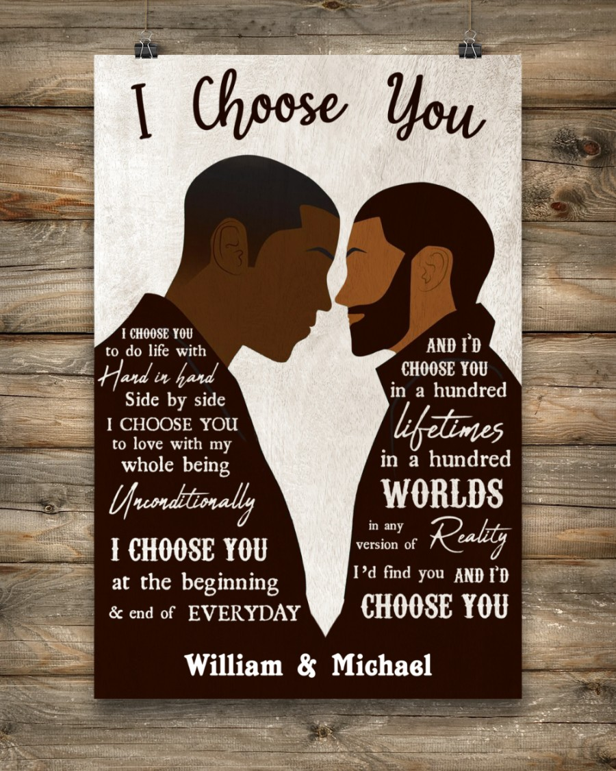 custom your name black gay couple id find you and i choose you poster 3