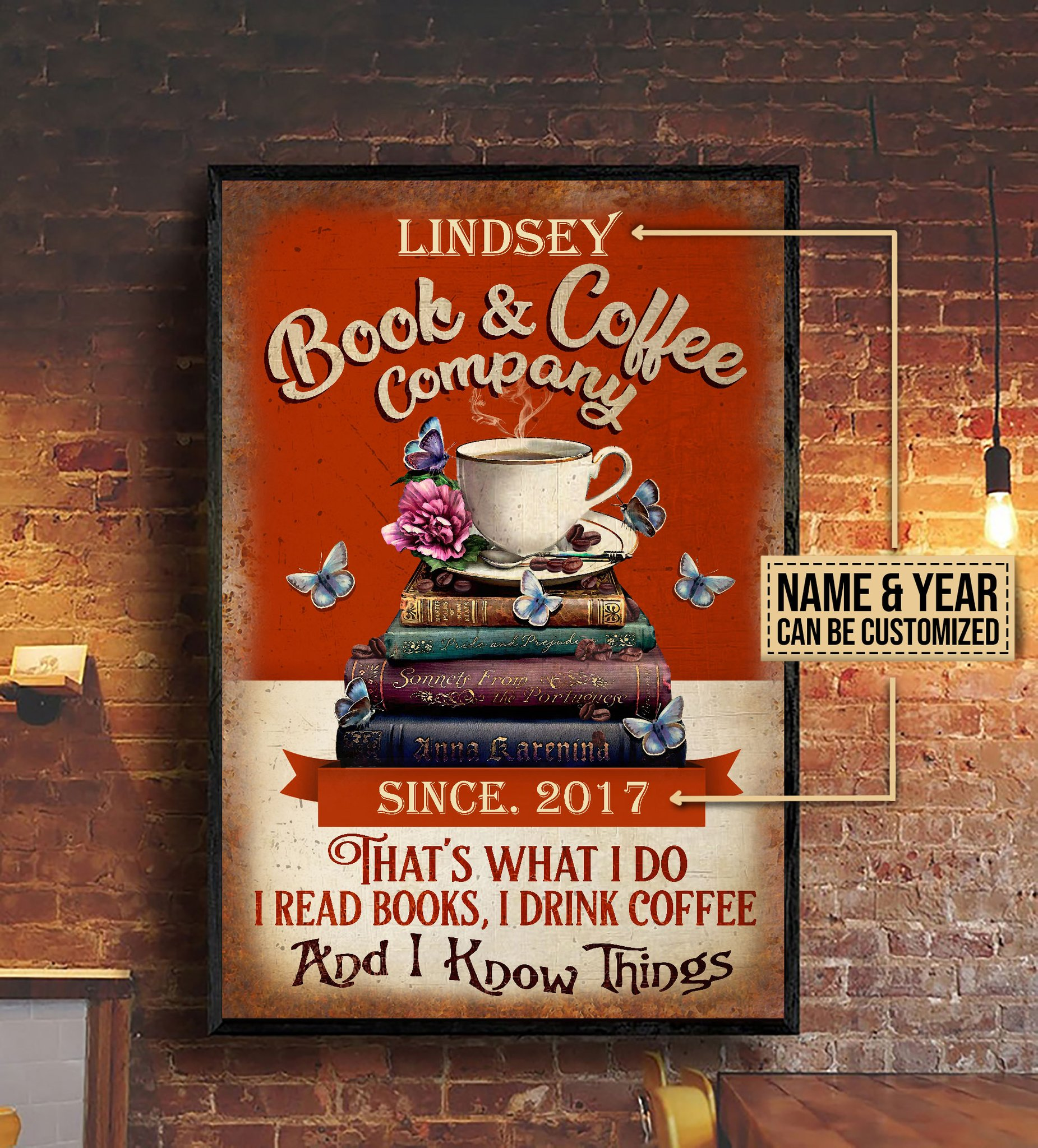custom your name book and coffee company thats what i do i read books i drink coffee and i know things poster 3