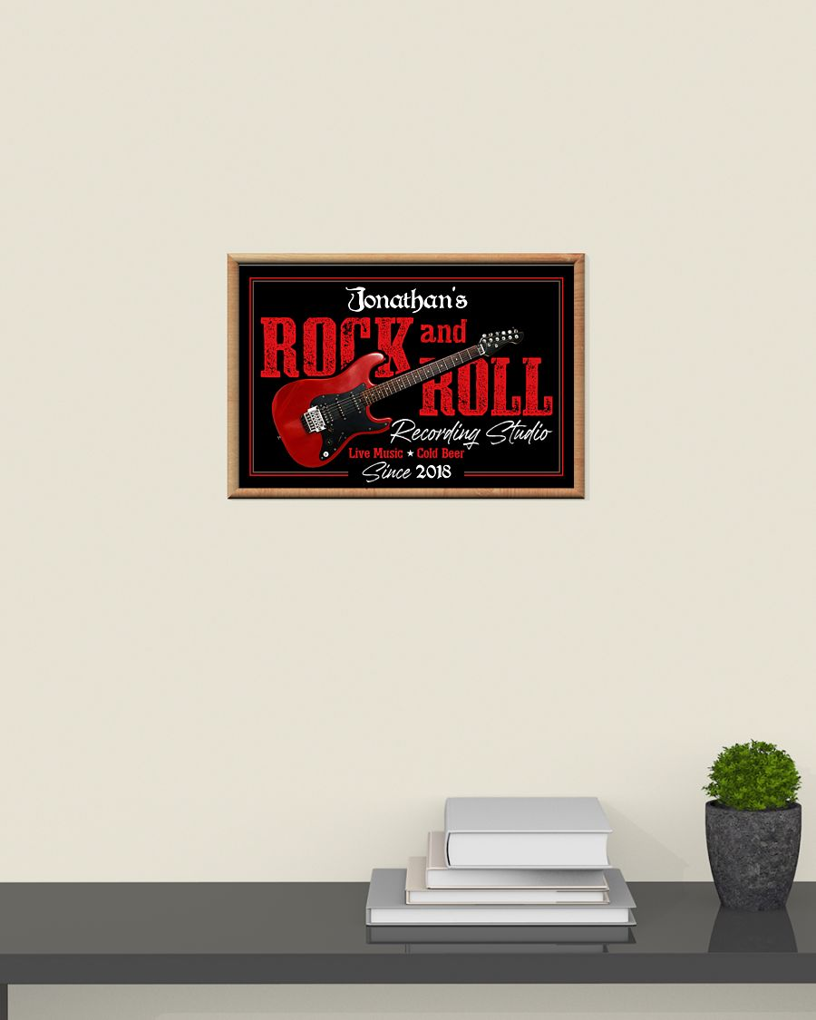 custom your name electric guitar rock and roll poster 5
