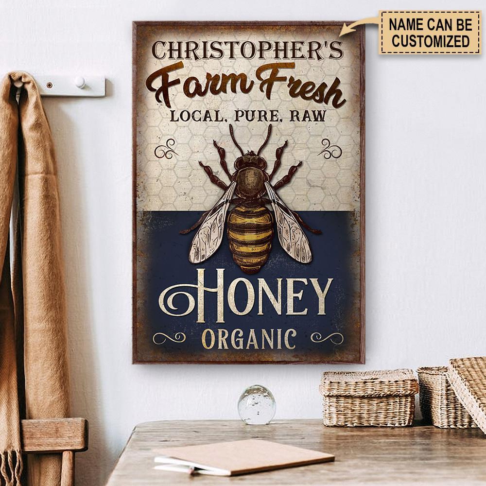 custom your name farm fresh local pure raw honey organic poster 2