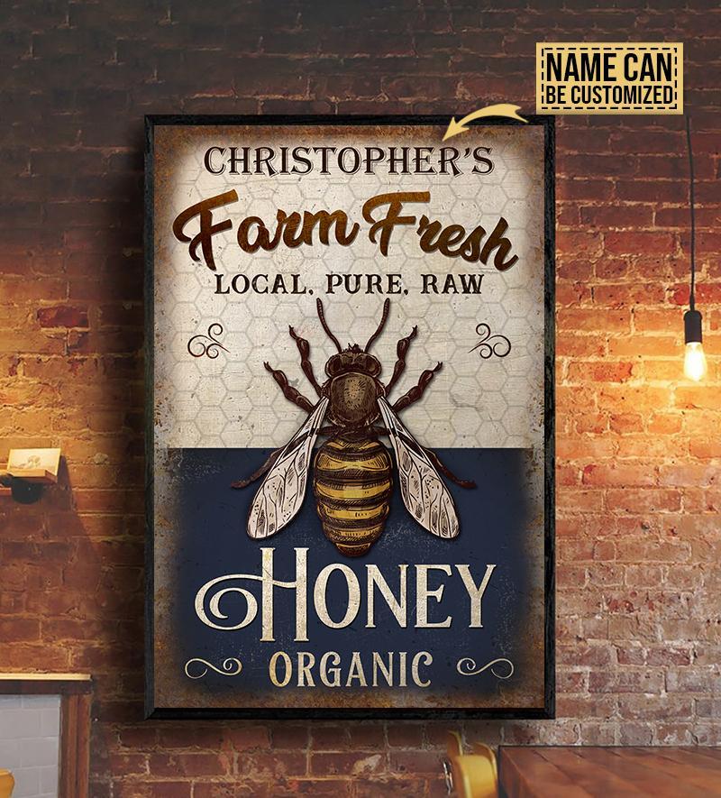 custom your name farm fresh local pure raw honey organic poster 3