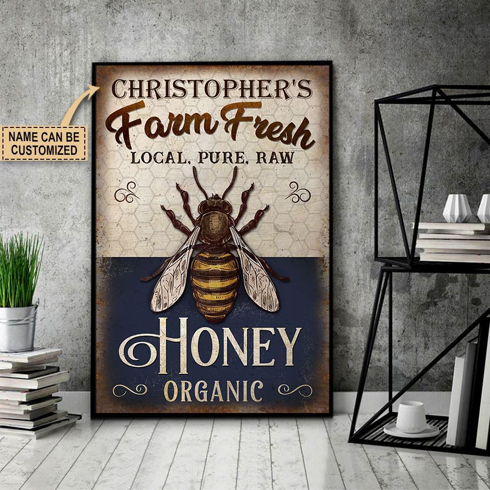 custom your name farm fresh local pure raw honey organic poster 4