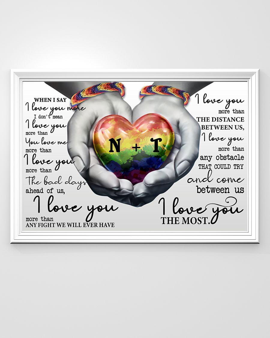 custom your name lgbt i love you the most poster 3