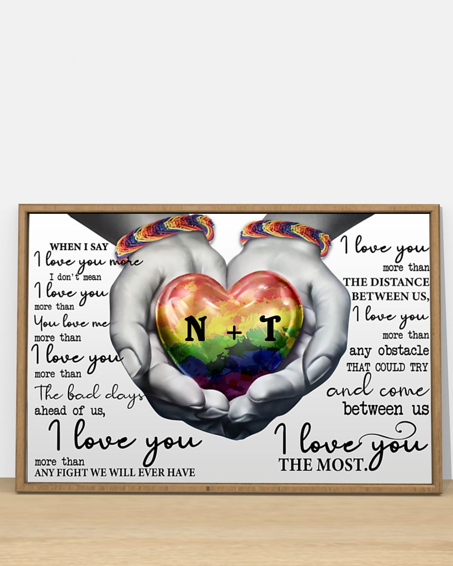 custom your name lgbt i love you the most poster 5