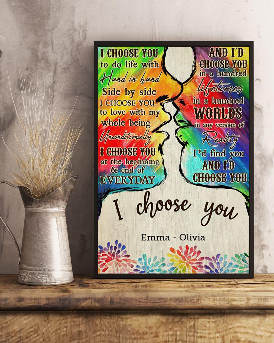 custom your name lgbt kiss i choose you poster 4