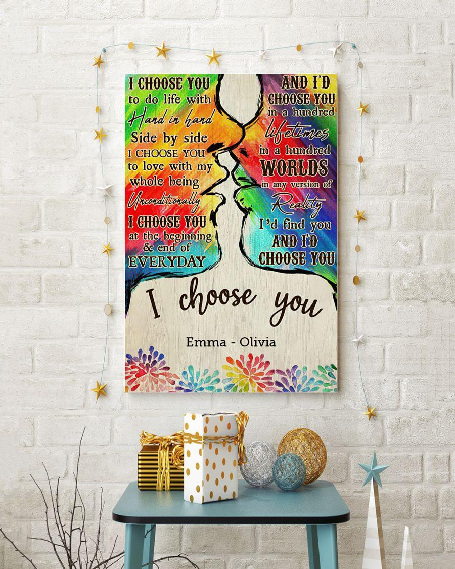custom your name lgbt kiss i choose you poster 5