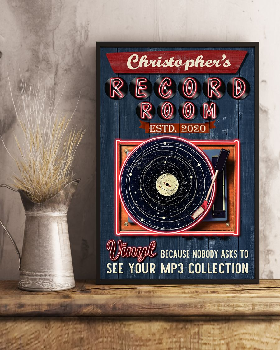 custom your name record room vinyl vintage poster 5