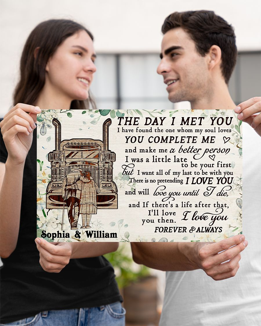 custom your name truck the day i met you i love you poster 2