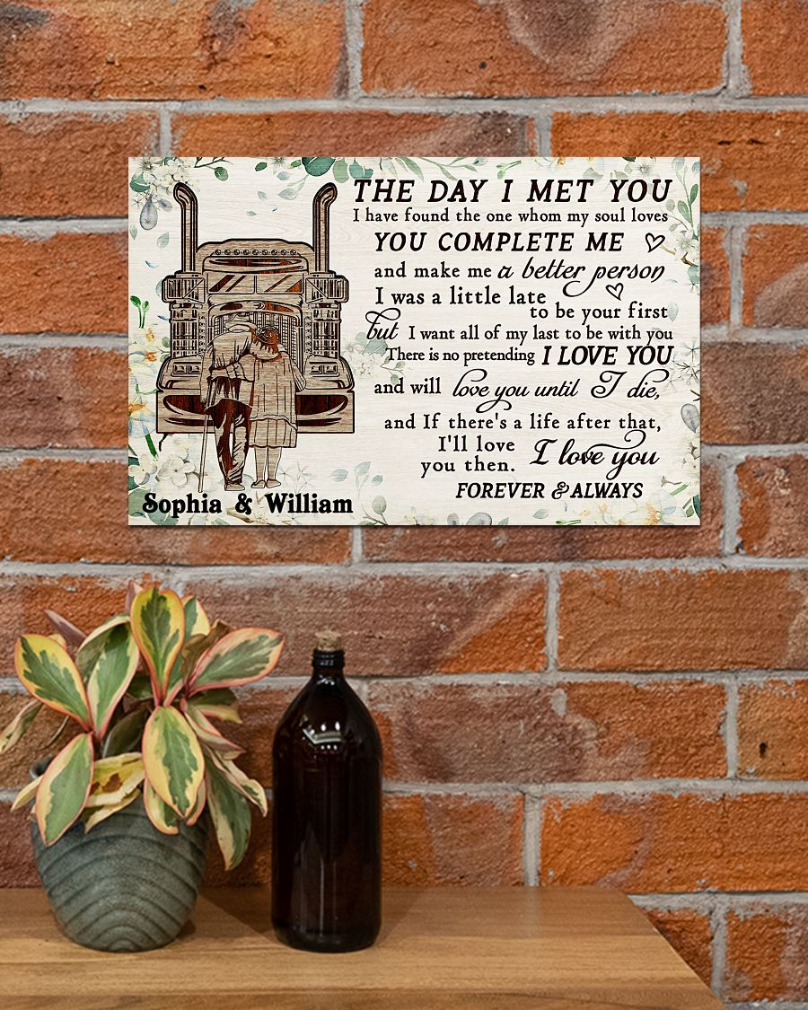 custom your name truck the day i met you i love you poster 4