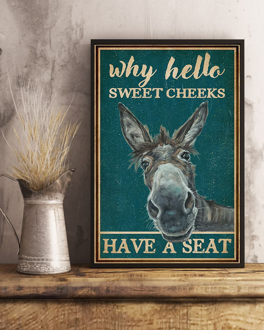 donkey why hello sweet cheeks have a seat vintage poster 5