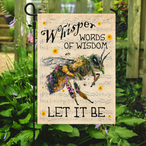 floral whisper words of wisdom bee all over print flag 4