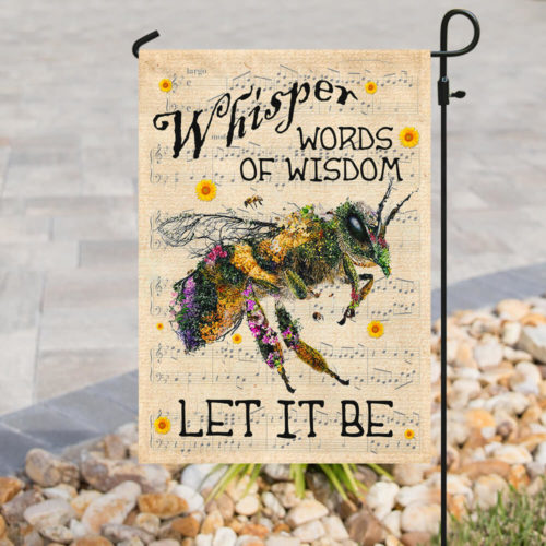 floral whisper words of wisdom bee all over print flag 5