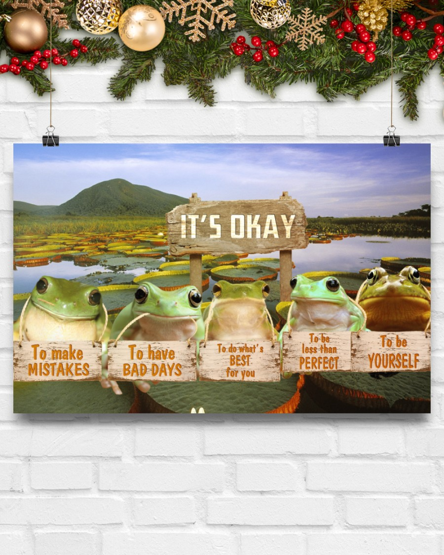 frog its okay to make mistakes to have bad days to be yourself poster 5