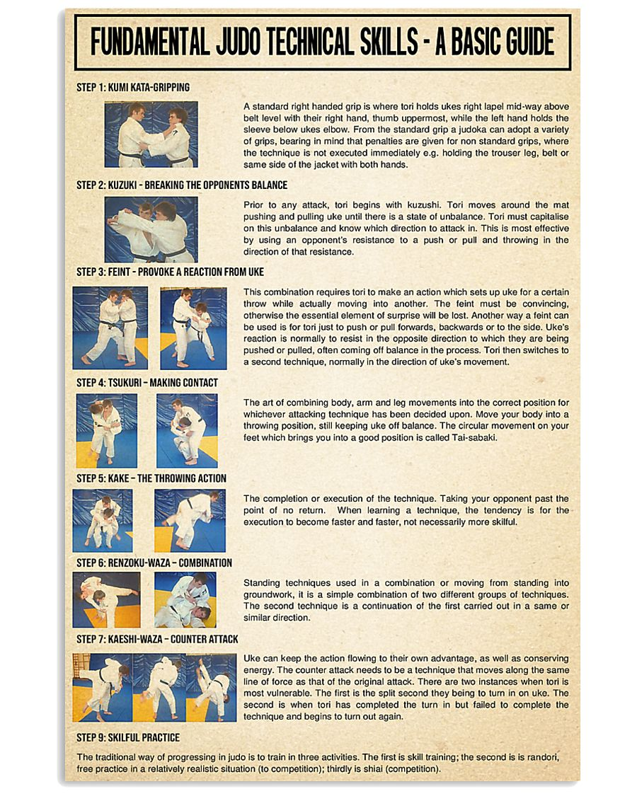 fundamental judo technical skills poster 4