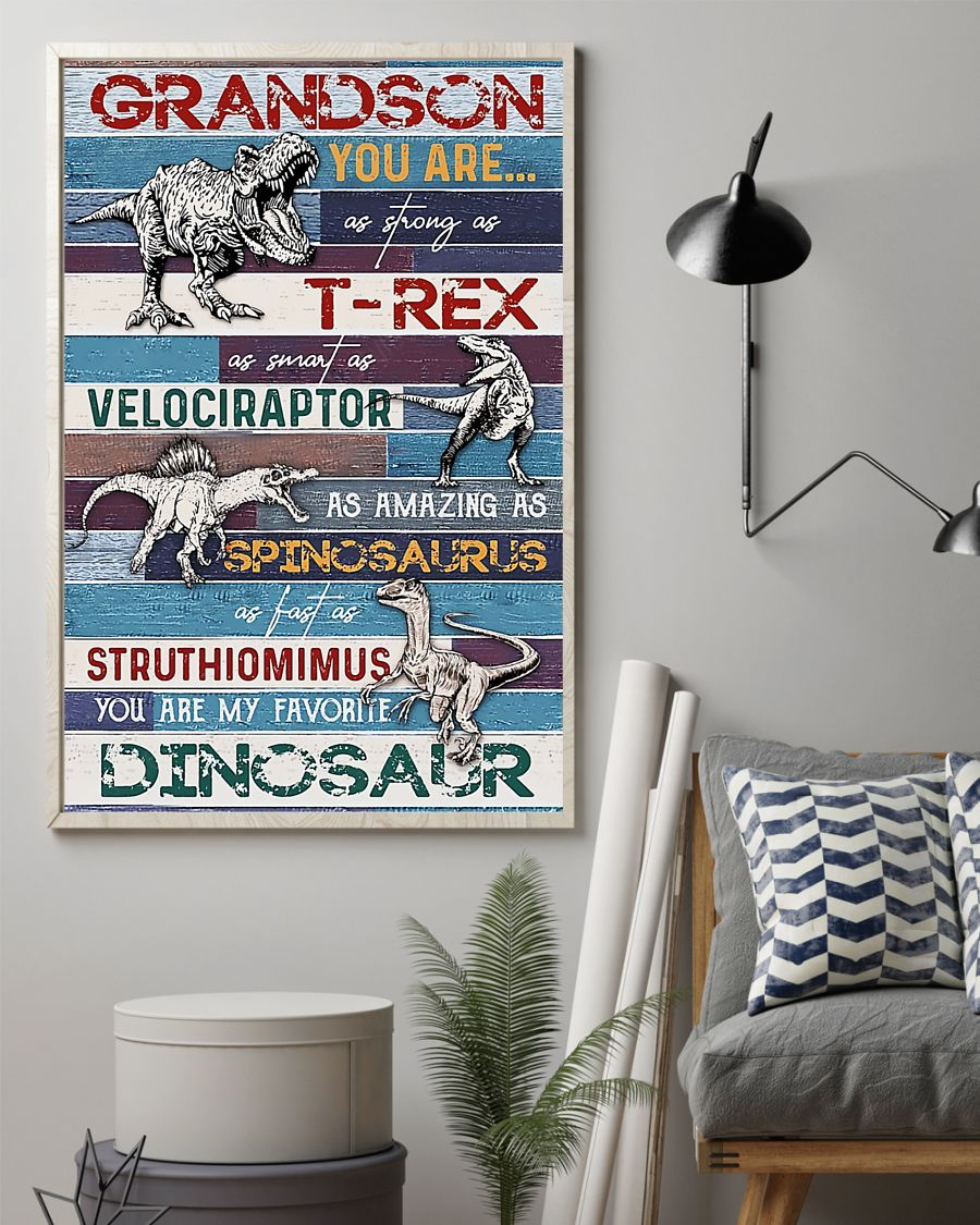 grandson you are my favorite dinosaur poster 2
