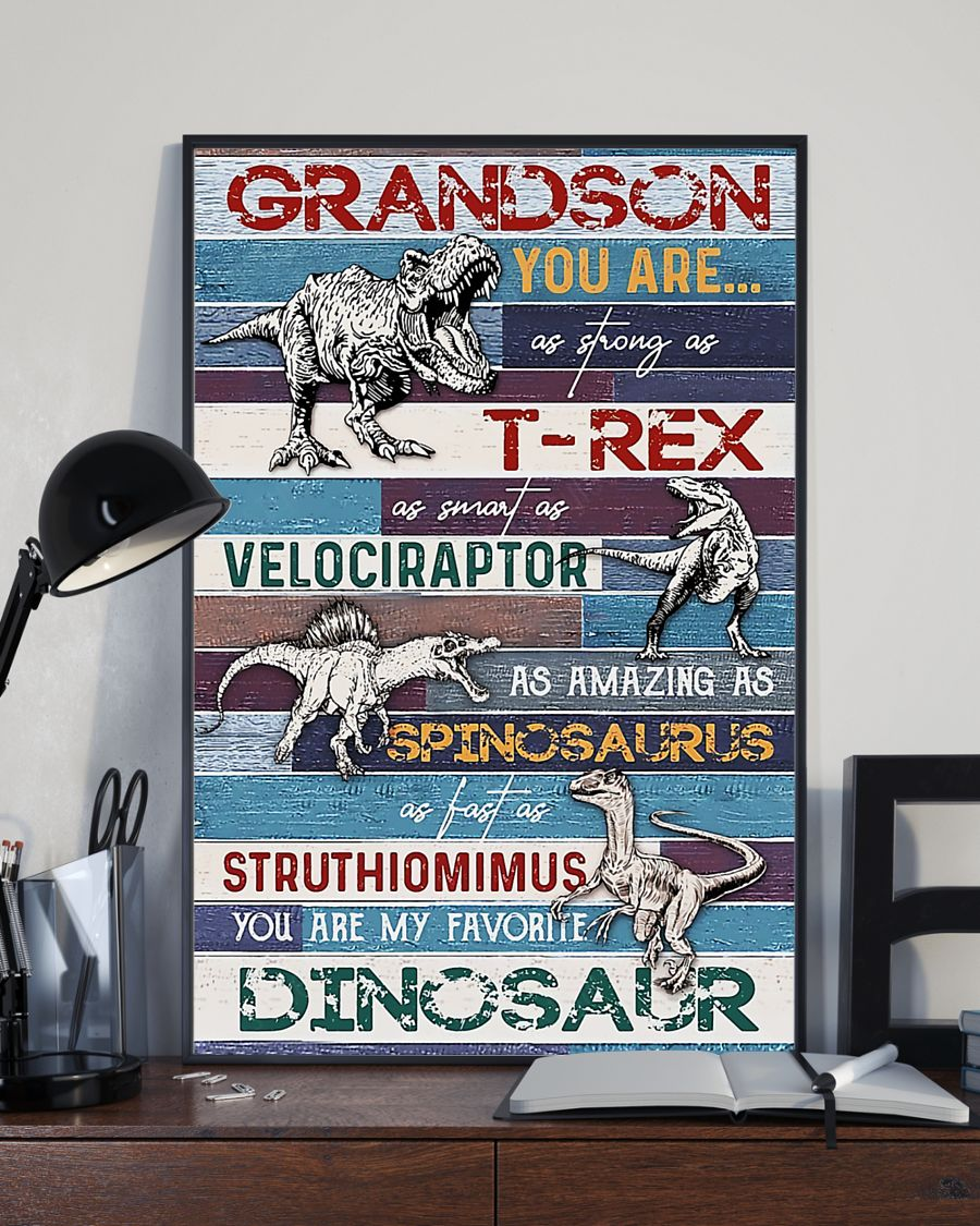 grandson you are my favorite dinosaur poster 3