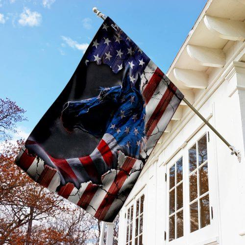horse fan american flag all over print flag 2