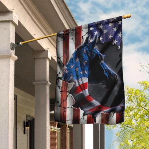 horse fan american flag all over print flag 3