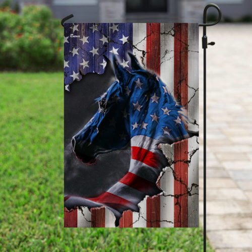 horse fan american flag all over print flag 4