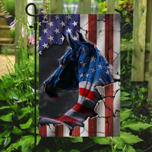 horse fan american flag all over print flag 5