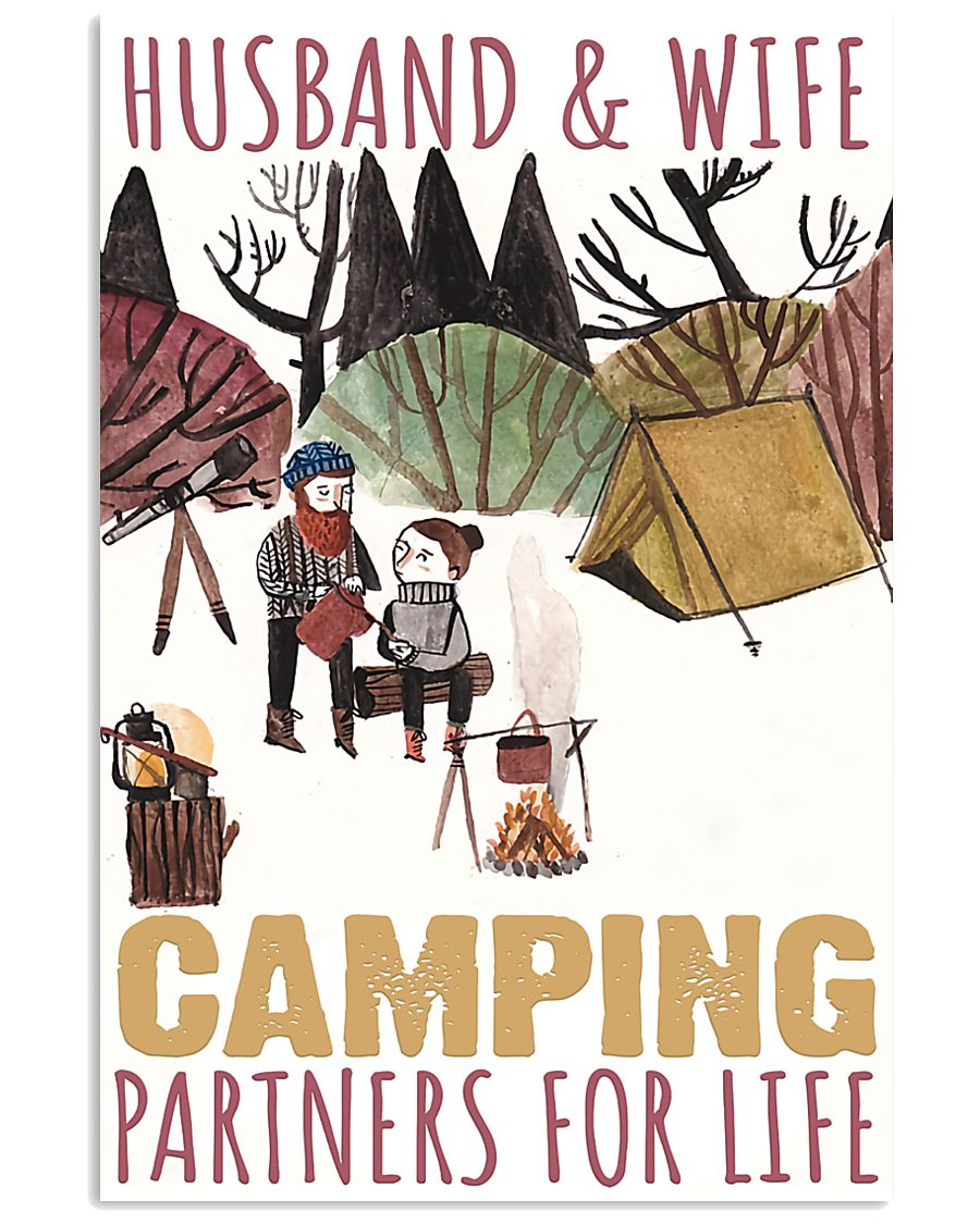 husband and wife camping partners for life poster 2