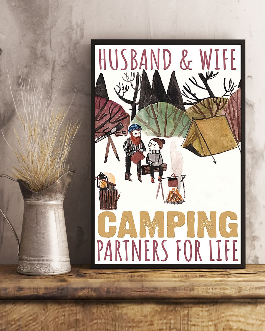 husband and wife camping partners for life poster 3