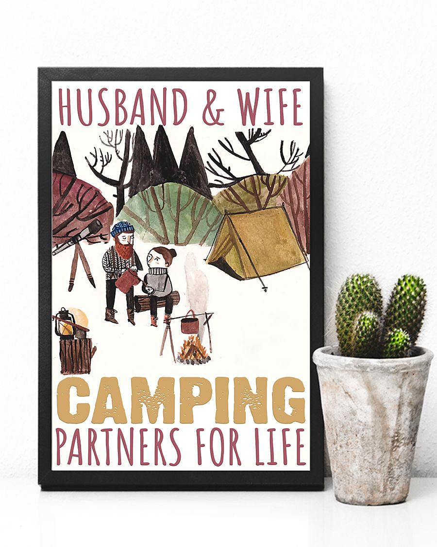husband and wife camping partners for life poster 5