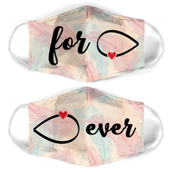 infinity symbol couple love all over print face mask 1