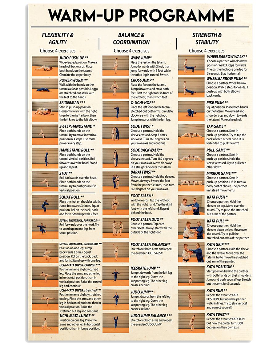 judo warm up programme poster 3