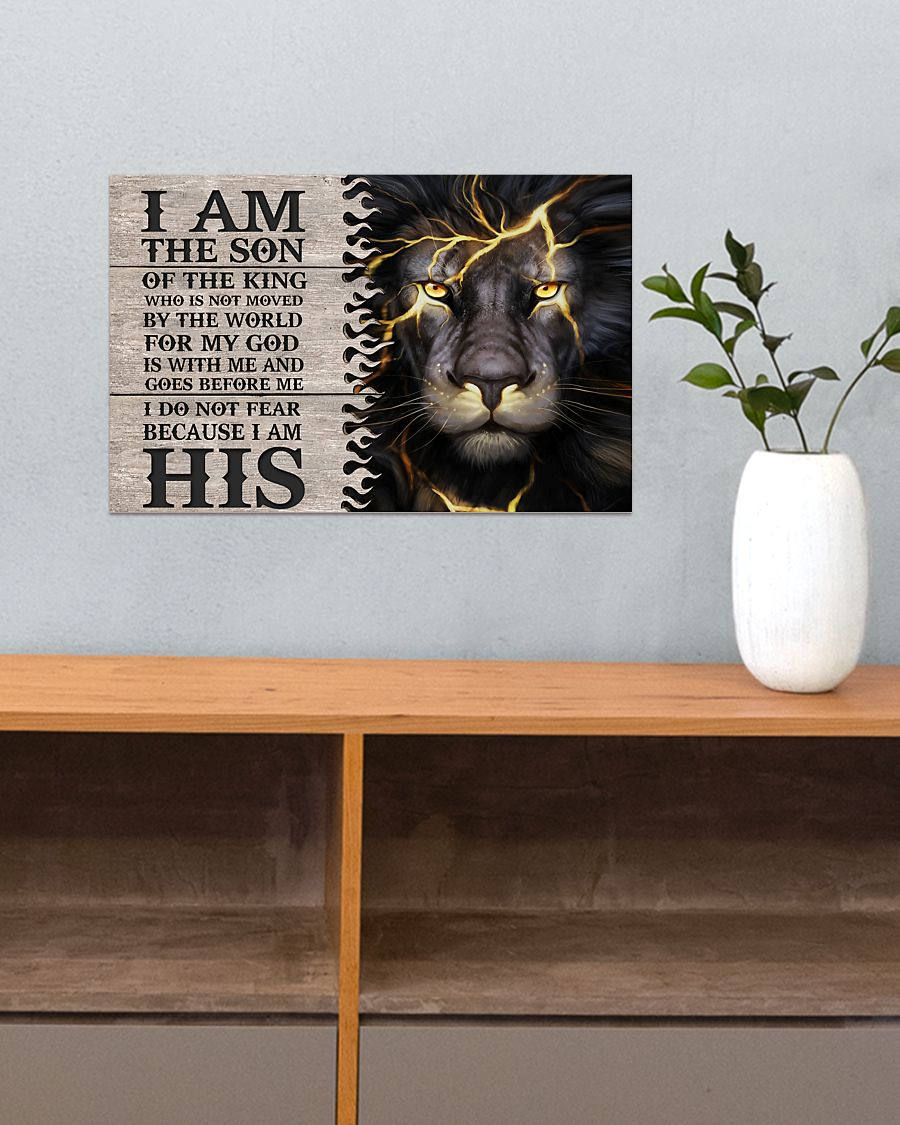 lion i am the son or a king who is not moved by the world for my God is with me poster 5