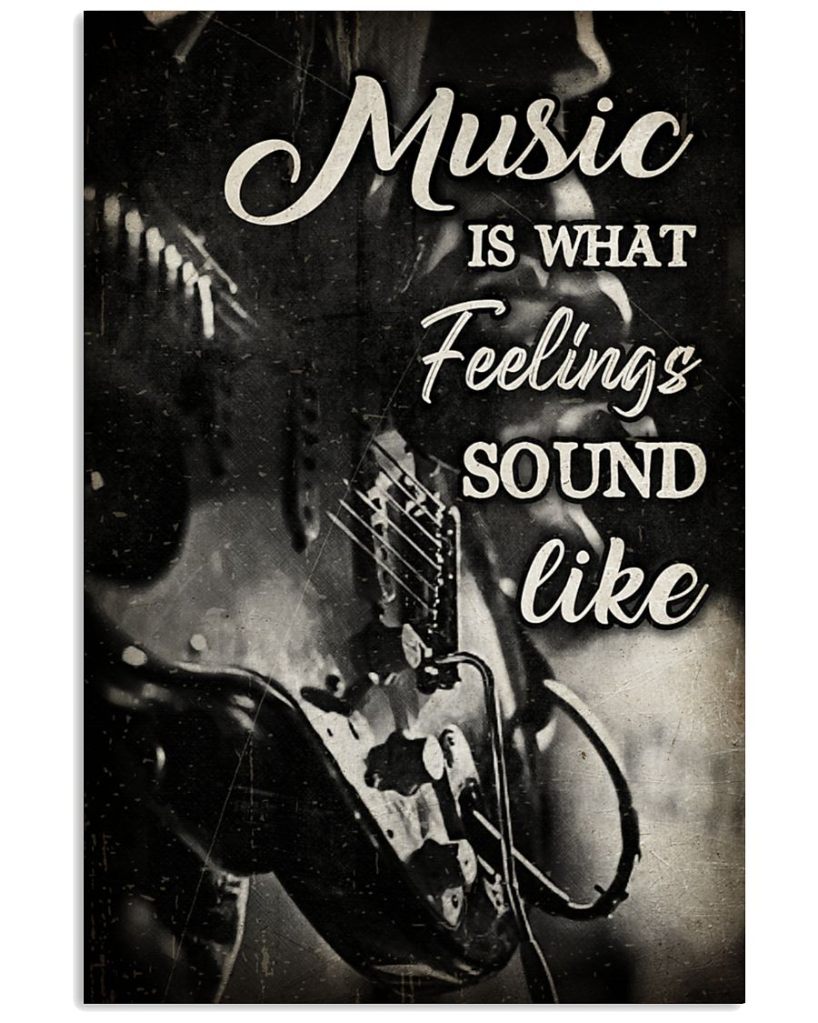 music is what feelings sound like wall art poster 2