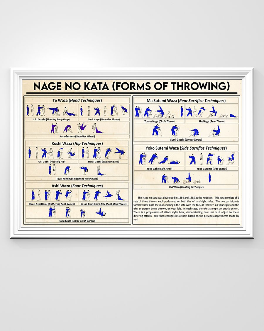 nage no kata forms of throwing poster 3
