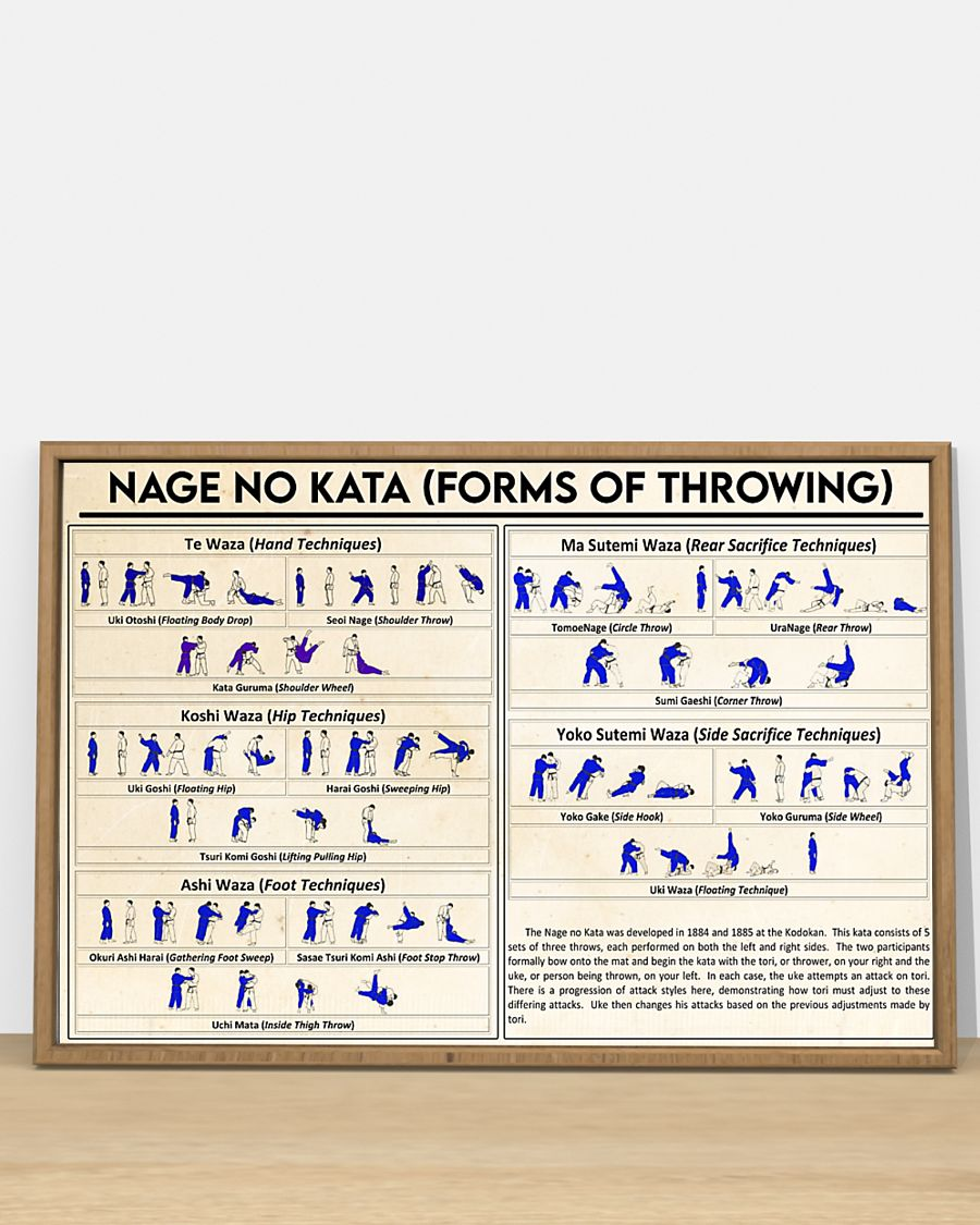 nage no kata forms of throwing poster 4