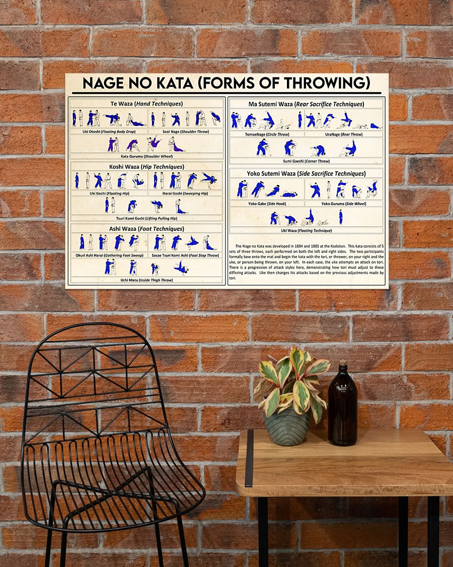 nage no kata forms of throwing poster 5