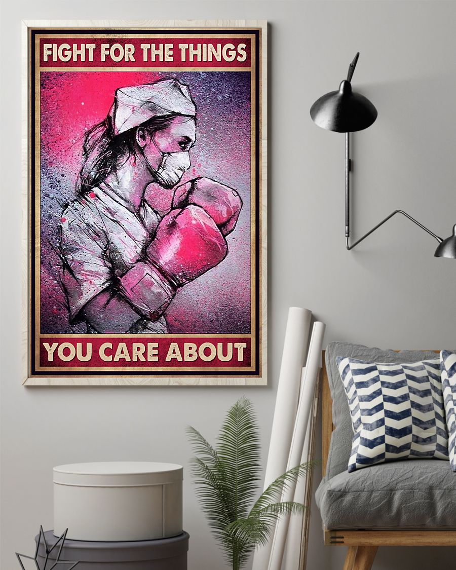 nurse fight for the things you care about vintage poster 3