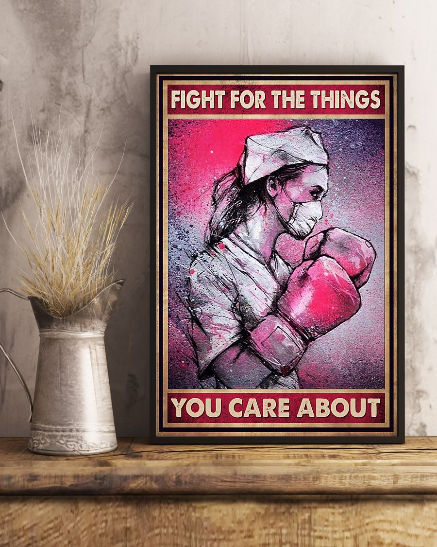 nurse fight for the things you care about vintage poster 4