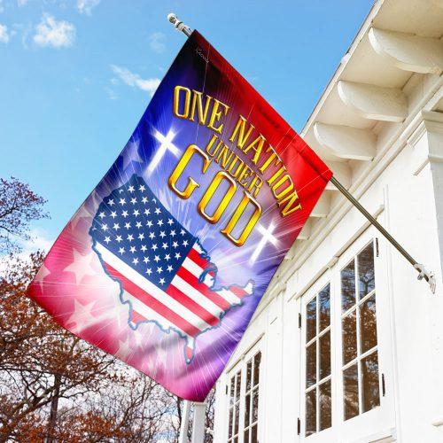 one nation under God love american flag all over print flag 3