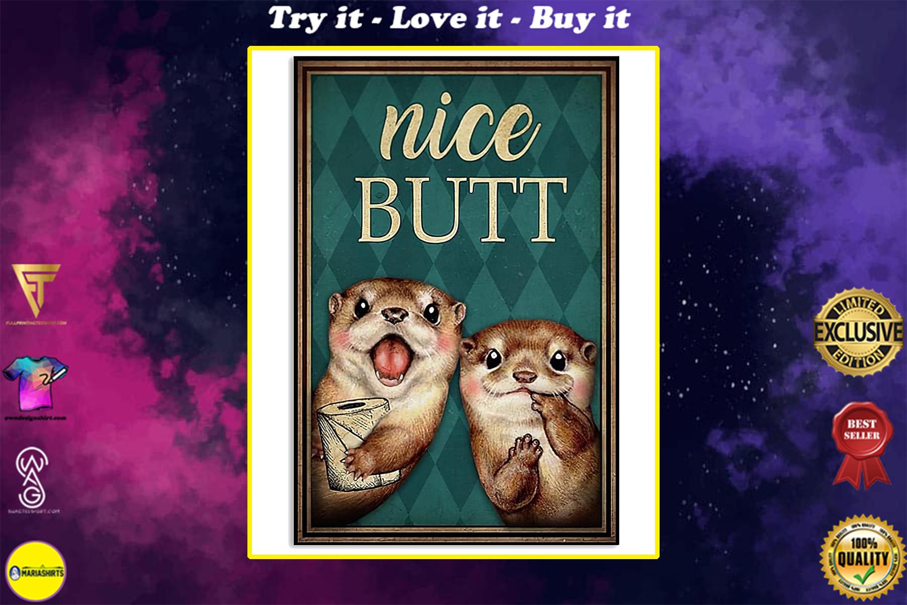 otter nice butt vintage poster