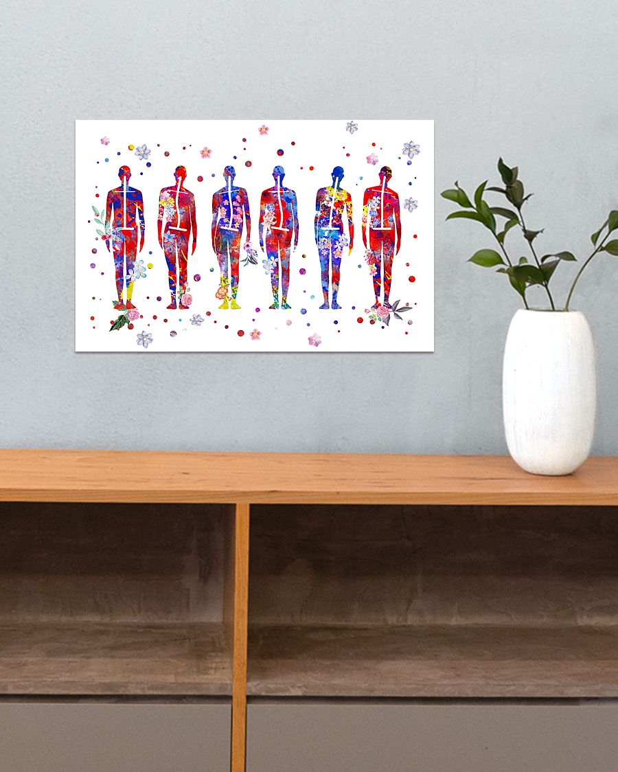 physical therapist postures art poster 5