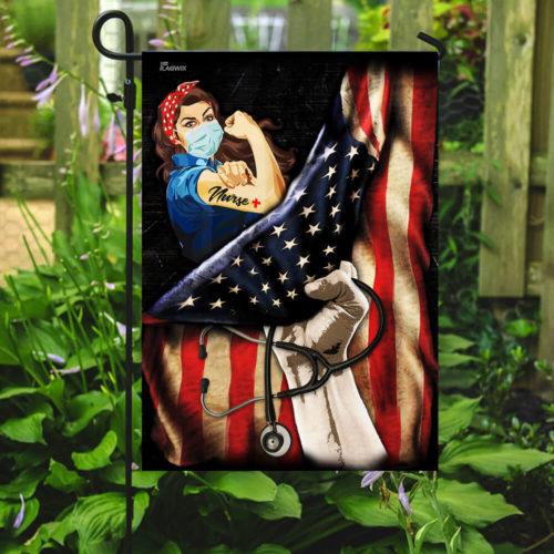 proud our nurse american flag all over print flag 2